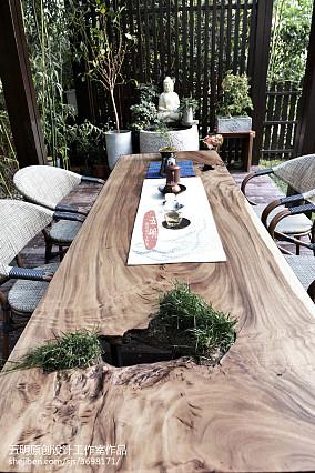精选139平方混搭别墅花园装修效果图片欣赏