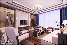清新素雅现代日式风格电视背景墙设计效果图
