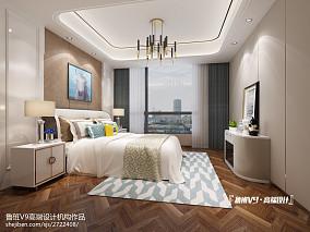 2018面积139平别墅卧室现代装修实景图