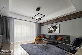 热门面积103平简约三居客厅装修效果图片