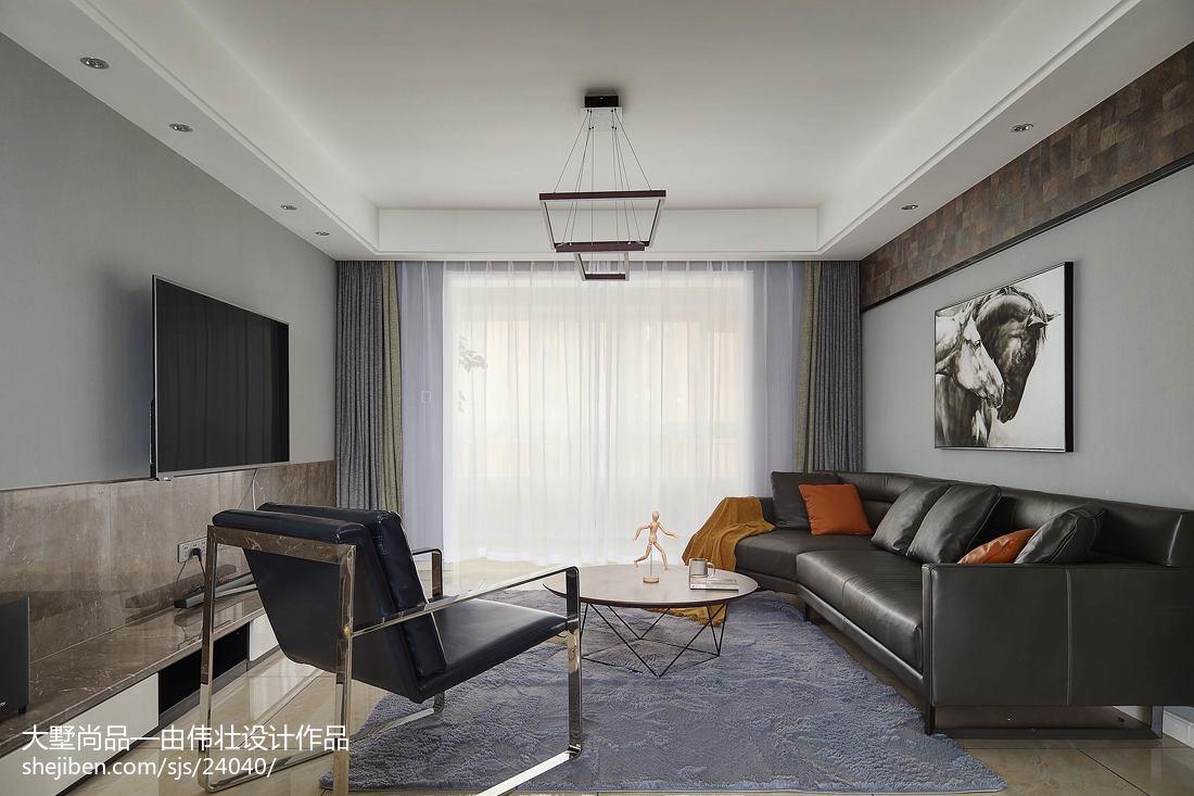 2018最新面积102平简约三居客厅欣赏图片大全