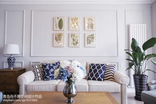 优美111平法式二居实拍图客厅沙发二居欧式豪华家装装修案例效果图