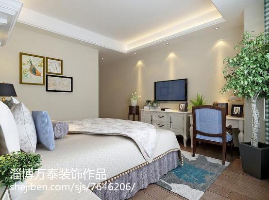 精美98平米三居卧室简欧装修图片欣赏卧室欧式豪华卧室设计图片赏析
