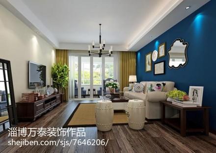 精选92平米三居客厅简欧装修图片欣赏