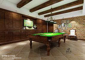 美式风格四居室装饰设计案例图片