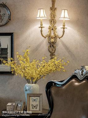 华丽158平简欧四居客厅图片欣赏四居及以上北欧极简家装装修案例效果图