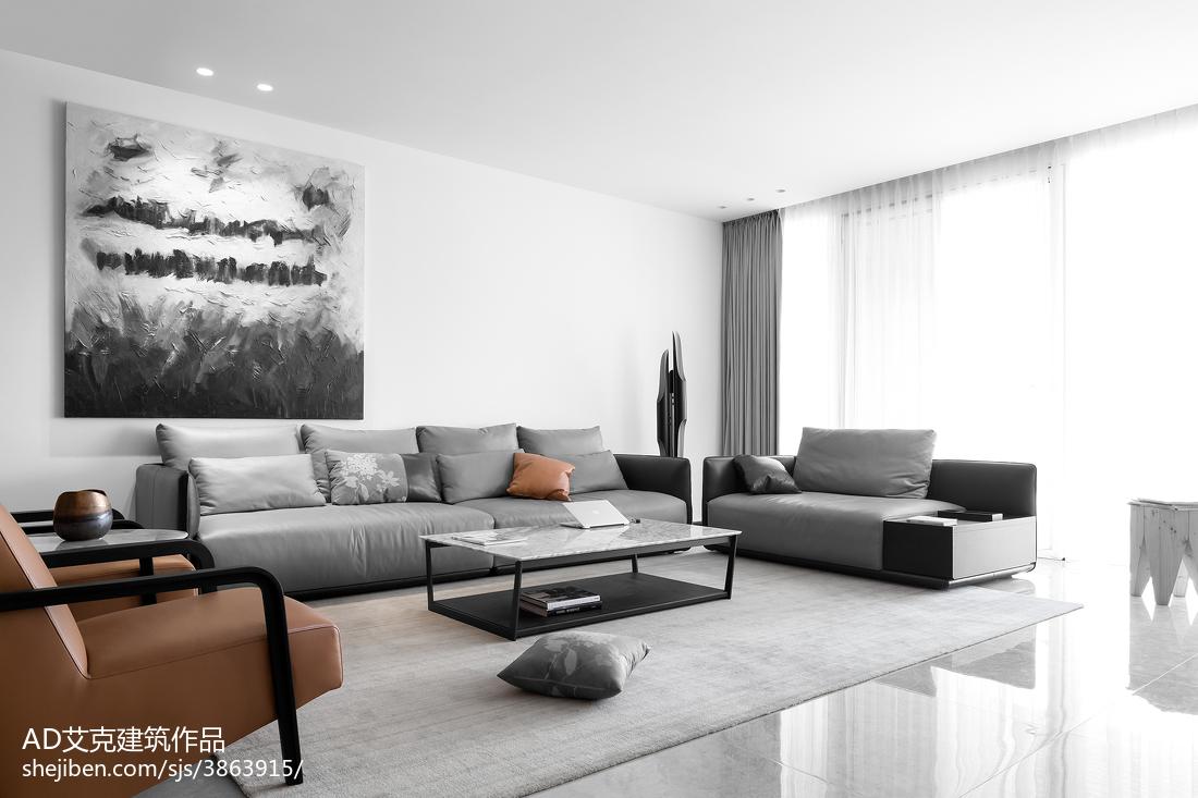 精选135平米四居客厅现代装修效果图片客厅窗帘现代简约客厅设计图片赏析