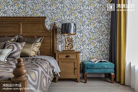 精美三居卧室美式装修实景图片