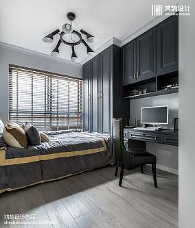 精美105平米三居休闲区美式效果图三居美式经典家装装修案例效果图