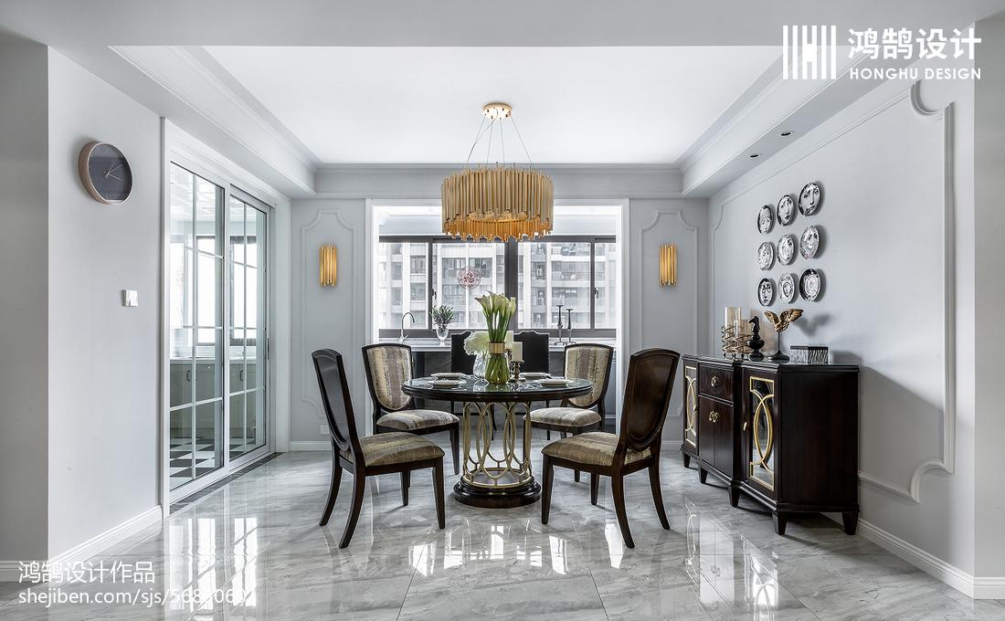 精美95平方三居餐厅美式欣赏图厨房美式经典餐厅设计图片赏析