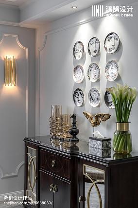 精美面积98平美式三居餐厅装饰图片欣赏三居美式经典家装装修案例效果图