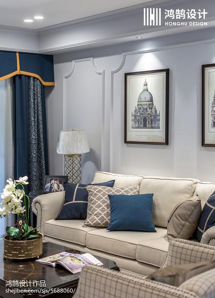 2018精选98平米三居客厅美式装饰图片