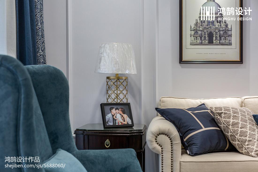 精美109平方三居客厅美式装修实景图片大全客厅美式经典客厅设计图片赏析