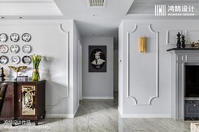 2018美式三居过道装修欣赏图片三居美式经典家装装修案例效果图