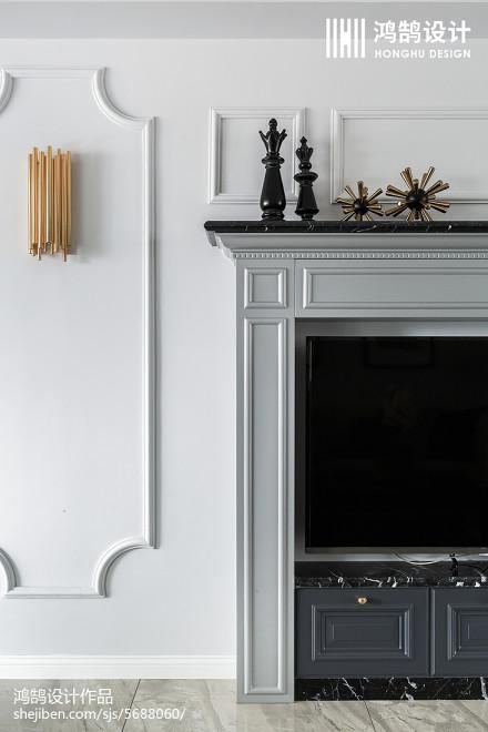 面积94平美式三居客厅装饰图片