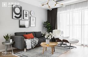 热门104平米三居客厅北欧装修图片大全