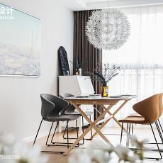精选面积105平北欧三居餐厅装修设计效果图片欣赏