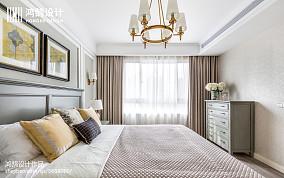 精美143平米四居卧室美式实景图片欣赏四居及以上美式经典家装装修案例效果图