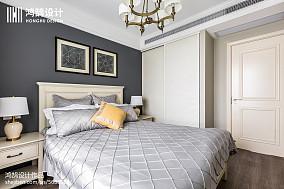 精美面积136平美式四居卧室装修欣赏图片四居及以上美式经典家装装修案例效果图