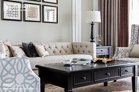 精选117平米四居客厅美式效果图片欣赏四居及以上美式经典家装装修案例效果图