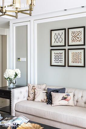 2018精选117平米四居客厅美式装饰图片大全四居及以上美式经典家装装修案例效果图