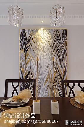 2018面积101平现代三居餐厅装修图片大全