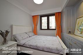热门大小103平现代三居卧室装修效果图片