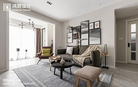 面积72平北欧二居客厅设计效果图