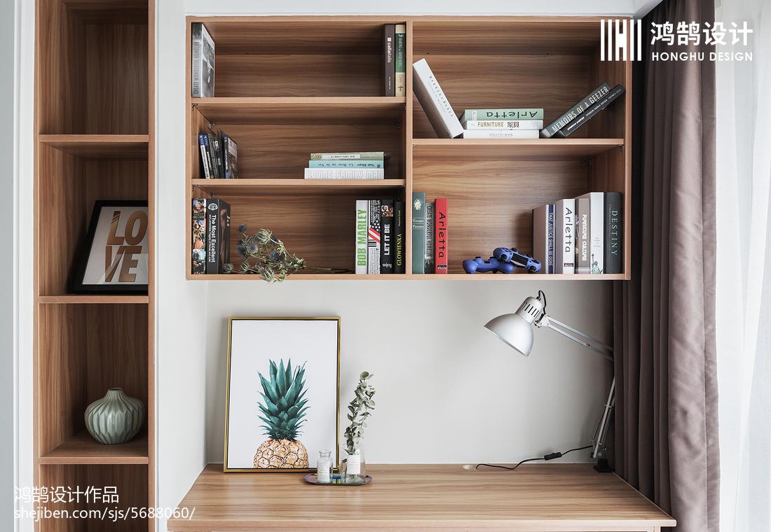 88㎡北欧书房书架设计图