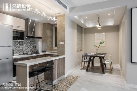 2018精选面积83平北欧二居厨房装修图片欣赏餐厅