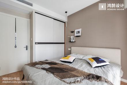 2018北欧二居卧室装修设计效果图片卧室