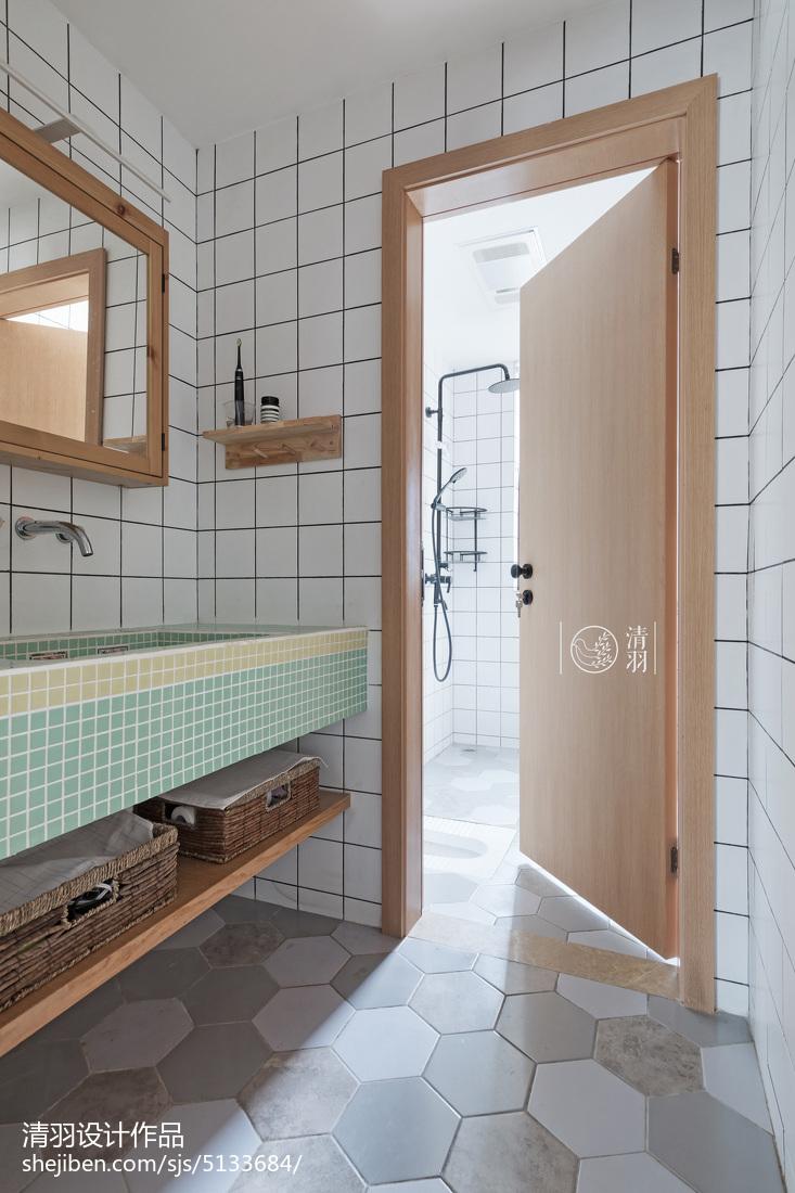 平现代三居美图卫生间现代简约卫生间设计图片赏析
