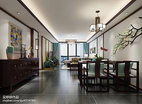温馨80平中式三居餐厅装修装饰图厨房中式现代设计图片赏析