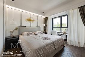 热门面积94平中式三居卧室设计效果图三居中式现代家装装修案例效果图