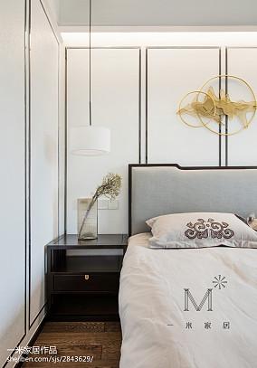 热门面积98平中式三居卧室实景图三居中式现代家装装修案例效果图