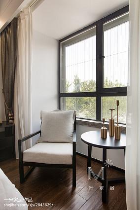 热门101平米三居卧室中式装修效果图三居中式现代家装装修案例效果图