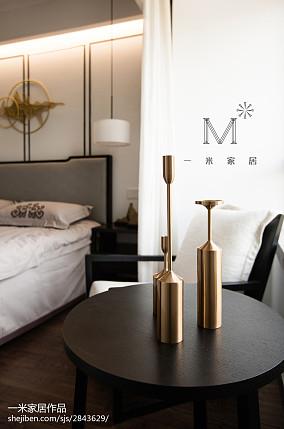 平米三居卧室中式装修设计效果图片三居中式现代家装装修案例效果图