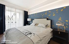 精美104平米三居卧室中式装修欣赏图片三居中式现代家装装修案例效果图