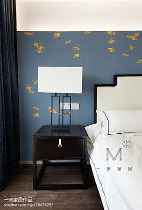 2018精选面积103平中式三居卧室装修设计效果图片三居中式现代家装装修案例效果图