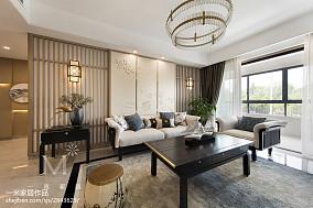 精美面积93平中式三居客厅装饰图三居中式现代家装装修案例效果图