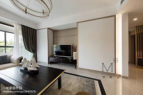 142m²新中式背景墙设计图三居中式现代家装装修案例效果图