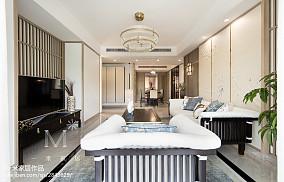 热门102平方三居客厅中式效果图片欣赏三居中式现代家装装修案例效果图