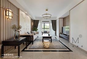 2018面积90平中式三居客厅欣赏图片三居中式现代家装装修案例效果图