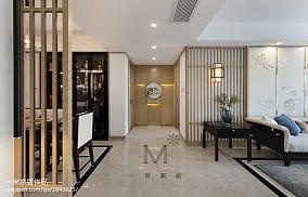 面积95平中式三居过道装修效果图片大全三居中式现代家装装修案例效果图