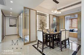 平方三居餐厅中式装修效果图片欣赏三居中式现代家装装修案例效果图