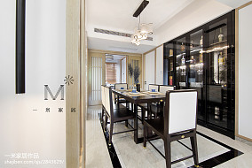97平米三居餐厅中式装修设计效果图片欣赏三居中式现代家装装修案例效果图