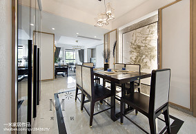 热门91平米三居餐厅中式效果图片欣赏三居中式现代家装装修案例效果图
