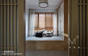 142m²新中式地台设计图三居中式现代家装装修案例效果图