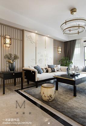 2018精选97平米三居客厅中式装修效果图片大全