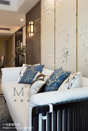 2018精选大小109平中式三居客厅装修实景图片欣赏三居中式现代家装装修案例效果图
